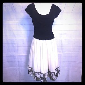 Women's S L Fashions black cream party dress so 6